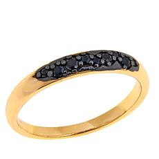 Bellezza Black Spinel Bronze Cluster Band Ring