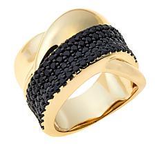 Bellezza Black Spinel Bronze Twist Band Ring