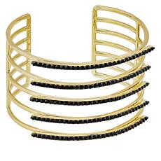 Bellezza Bronze Black Spinel 5-Row Cuff Bracelet