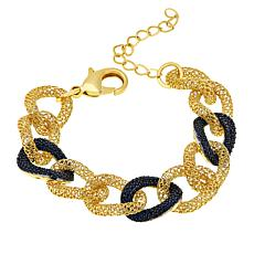 Bellezza Bronze Black Spinel Mesh Link Bracelet