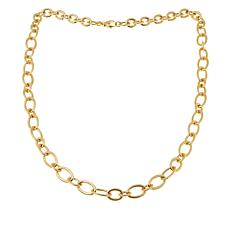 "Bellezza Bronze Bold Fancy Oval-Link 36"" Necklace"