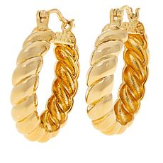 Bellezza Bronze Bold Rope Doorknocker Earrings