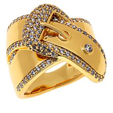 Bellezza Bronze Cubic Zirconia Buckle Ring