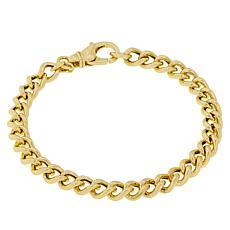 "Bellezza Bronze Curb-Link 7-1/2"" Bracelet"