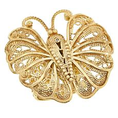 Bellezza Bronze Filigree Butterfly Ring