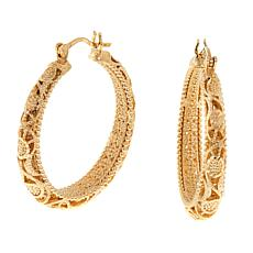 Bellezza Bronze Filigree Hoop Earrings