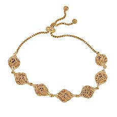 Bellezza Bronze Filigree Station Adjustable Bracelet