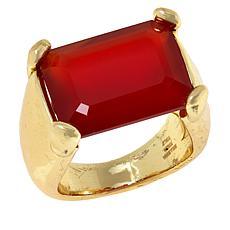 Bellezza Bronze Gemstone Hammered Ring
