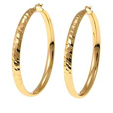 Bellezza Bronze Hammered Hoop Earrings