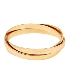Bellezza Bronze Interlocking Triple Bangle Bracelet