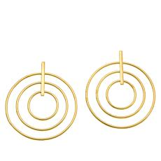 Bellezza Bronze Multi-Circle Dangle Earrings