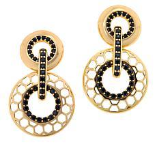 Bellezza Bronze  Pavé Beehive Drop Earrings