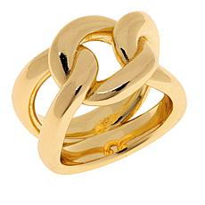 Bellezza Bronze Polished Curb-Link Ring