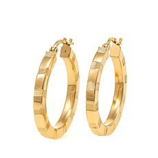 Bellezza Bronze Small Diamond-Cut Hoop Earrings