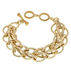 Bellezza Bronze Textured Woven-Link Bracelet