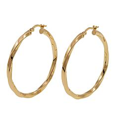 Bellezza Bronze Twisted Hoop Earrings