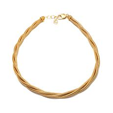 Bellezza Bronze Twisted Tubogas-Link Necklace