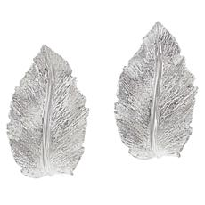 Bellezza Sterling Silver Leaf Earrings