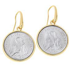Bellezza Vatican City Lira Coin Bronze Drop Earrings