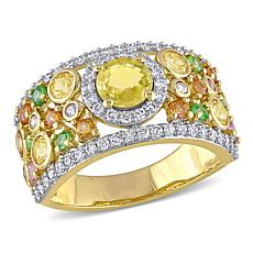 Bellini 14K Yellow Sapphire, Diamond and Multi-Gemstone Cigar Ring