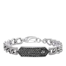 Ben Sherman Men's Chevron Pattern Curb Chain ID Bracelet