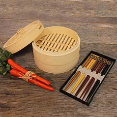 Berghoff Bamboo 11-piece Steamer Set: Steamer & Chopsticks