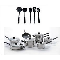 BergHOFF® CooknCo Stainless Steel 19-piece Cookware Set