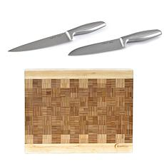 BergHOFF Geminis 3-piece Cutlery & Cutting Board Set