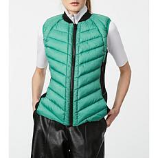 Bernardo Recycled Puffer Vest with Neoprene Combo