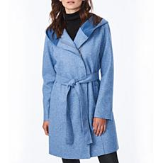 Bernardo Sweater Wool Wrap Coat