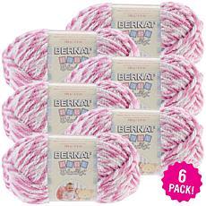 Bernat Baby Blanket Twists Yarn 6-pack - Pink Twist