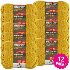 Bernat Softee Chunky Ombre Yarn 12-pack - Glow Gold