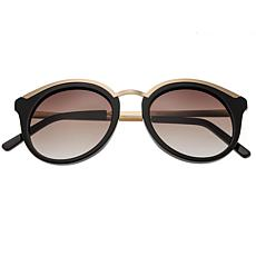 Bertha Caroline Polarized Sunglasses Black Frame Black Lens