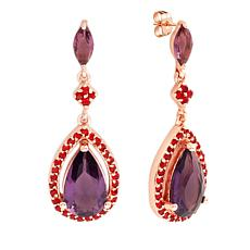 Bertha Juliet Collection Cubic Zirconia Teardrop Earrings