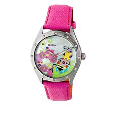 """Bertha Watches """"Ericka"""" Bee Dial Leather Strap Watch"""