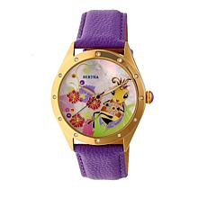 "Bertha Watches ""Ericka"" Bee Dial Leather Strap Watch"