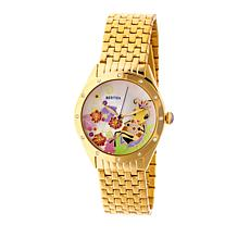 "Bertha Watches ""Ericka"" Bee Dial Stainless Steel Bracelet Watch"