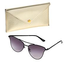 Bethenny Catviator Sunglasses with Case and Cleaning Cloth