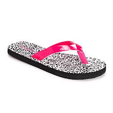 Betsey Johnson Women's Printed Flip Flops