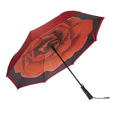 BetterBrella Automatic Open Reverse Umbrella with Lighted Handle