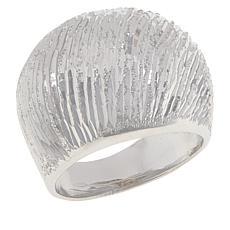 Bianca Milano Sterling Silver Diamond-Cut Dome Ring