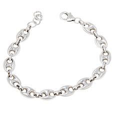 Bianca Milano Sterling Silver Mariner Link Chain Bracelet