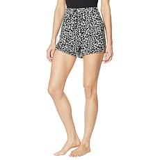 Billy T Animal-Print Pull-On Ruffled Lounge Short