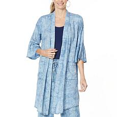 Billy T Geometrics Chambray Topper