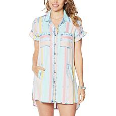 Billy T Happy Summer Button-Up Shirt Dress