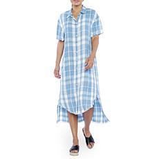 Billy T Ombré Plaid Easy Shirtdress