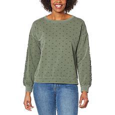 Billy T Star-Print Ruffled Sleeve Sweatshirt