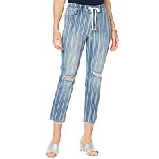 Billy T Summer Blues Barcode Stripe Drawstring Pant