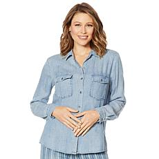 Billy T Summer Blues Button-Down Denim Shirt