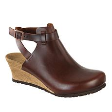 Birkenstock Esra Leather Wedge Clog